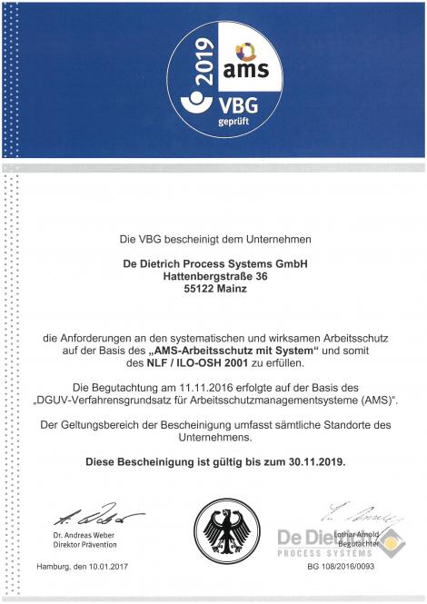 AMS-Zertificate