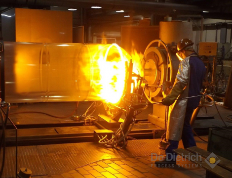 QVF biggest glass bottle cover welding