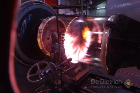 QVF biggest glass bottle main welding