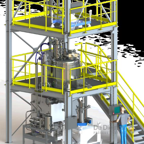 Solution de séchage sous vide clé en main, sécheur vertical GUEDU, turnkey vacuum drying solution